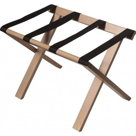 Square Wooden Luggage Hotel Display Stand With Webbing Collapsible Structure