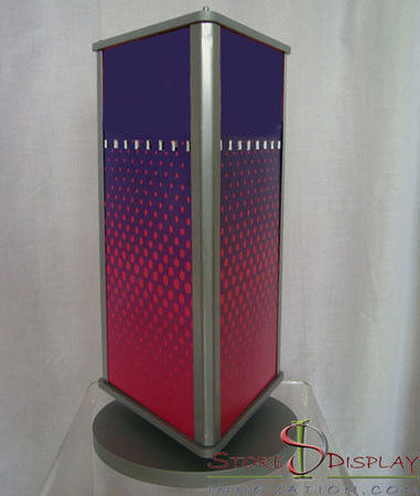 Graphic Sign Branded Display Stands Counter Top Customize Size And Logo